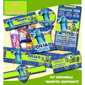 Kit Imprimible Etiquetas Fiesta Infantil Monster University