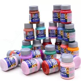 Tinta Para Tecido Acrilex 37ml C/ 50 Unidades -escolha Cores