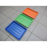 3 Bandeja Plastica - Cubeta Foto Revelado Laboratorio 34x44