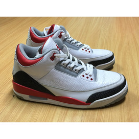 Jordan 3 Retro White Fire Red Talla 12 Us Originales