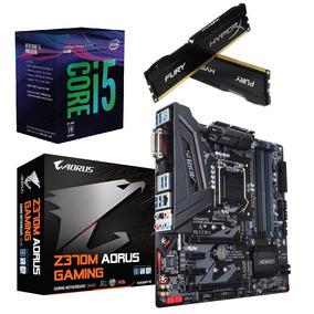 Kit 8ª Geração- I5 8400+ Mb Ga Z370m Aorus+ 2x8gb 2400 Mhz