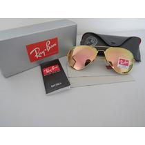 Óculos De Sol Ray-ban Rb3025 Aviador Rose Espelhado