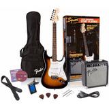 Paquete Guitarra Squier By Fender Stratocaster Super Precio!