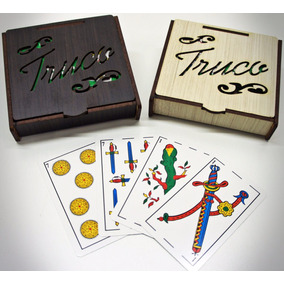 40 Caja Truquera Con Naipes. Madera Fibrofacil