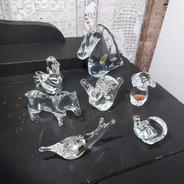 Lote Decoração Enfeite Cristal 7 Unidades