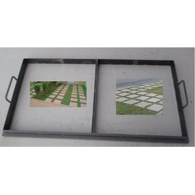 Forma Manual Para Placas De Jardins Calçadas 40 X 40 X 6 Cms