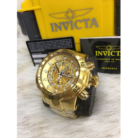 1137b9fa351 Relógio Invicta Venom 16297 Skeleton Dourado Maleta X115