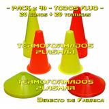 Pack X 40 (conos + Tortugas) Entrenamiento Deportivo Fabrica