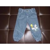 Pantalon De Niña De Blue-jean Marca Looney Tunes Talla 24 M