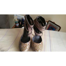 Bellisimos Zapatos,en Gamuza Y Piel.