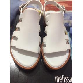 Melissa Boemia Platf- Marrom/branco N*36