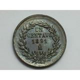 Moneda 1 Centavo México 1891 Cobre Sin Circular