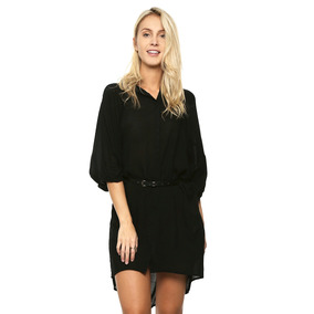 Vestido Negro Con Cinturón - West Avenue - 817994 - Negro