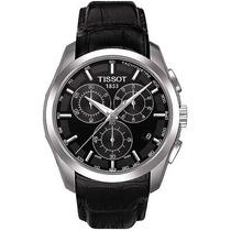 Relógio Tissot Couturier Couro Original Preto Original Suiço