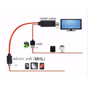 Cable Hdmi Especial Para Conectar Tu Smartphone A Tu Tv Hd