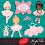 Kit Imprimible Bailarinas Imagenes Clipart Cod 19