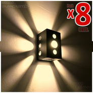 Baliza Señalizadora Pared Exterior Efecto X Estrella Pack X8