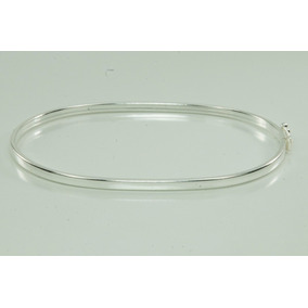 Bracelete Liso Feminino Prata 925