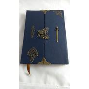 Grimório Maçom Artesanal Reciclato Capa Externa Corano Azul
