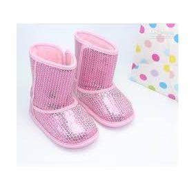 Zapato Para Bebe, Botita Para Bebe, Bota Lentejuela Rosa
