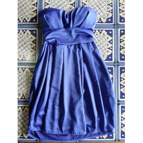 Vestido azul electrico y negro