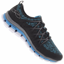 Zapatillas Olympikus Modelo Running Pillow Negro/azul