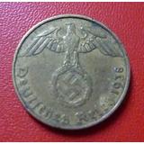 Alemania Nazi Moneda Tercer Reich 5 Pfennig Vf- 1938