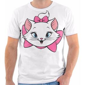 Camisa Camiseta Blusa Gata Marie Girl Fofo Animal Cat 02