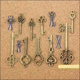 Llaves Estilo Antiguo Decorativas (40 Unidades)