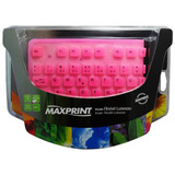 Teclado Maxprint Flexível Luminoso Usb Rosa 604173