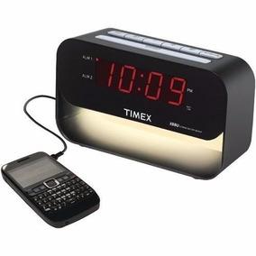 Timex Decorativo Xbbu Dual Alarm Clock Con Carga Usb Y Luz D
