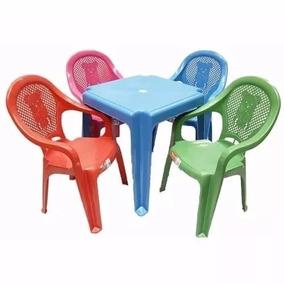 Conj. 2 Mesas + 8 Cadeiras Poltrona Apoio De Braço Infantil