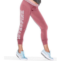 Pantalon Gym Pant Pink Victoria Secret Small Rosado Logo
