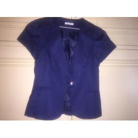 Saco Blazer Azul Mangas Cortas