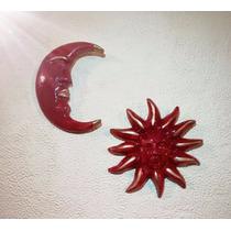 Artesanía De Sol Y Luna Cerámica Para Pared