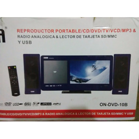 Reproductor Onida Cd Dvd Tv Mp3 Y Lector Mp3 Sd, Lcd 10 Plg