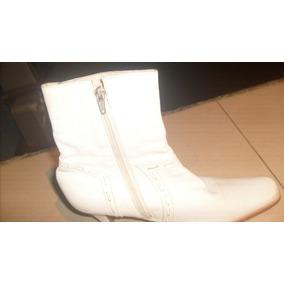 Botas Blancas 100% De Cuero (bs1000