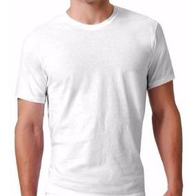Camiseta Masculina Poliéster Branco Básico Atacado
