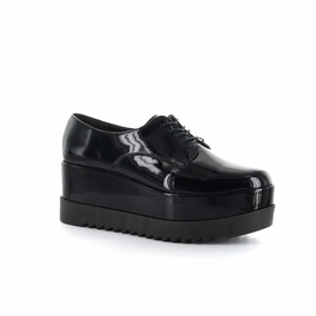 Oxford Plataforma, Color Negro Charol