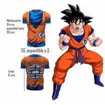 Polera Gokú, Dragon Ball Talla Xs Para Niños.