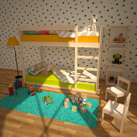 Litera Montessori Individual Infantil Madera De Álamo Kit
