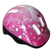 Capacete Bike Infantil Kripta Rosa Notas Musicais C/ Led