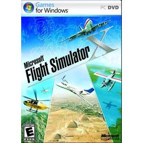 Dvd Padrão Do Vôo Simulador X Microsoft - Pc