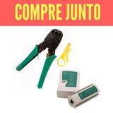 Alicate Crimpar + Testador Cabos Rede Rj45 Rj11 + Decapador