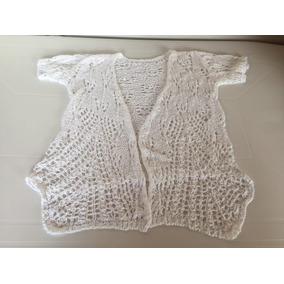 Saco Saquito Sweater Tejido Color Blanco Talle L Impecable!