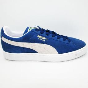 Tenis Puma Suede Classic + 352634 01 Blue White Piel