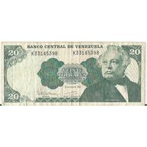 !!! Billete Venezuela 20 Bolivares 1992 Imperdible !!!!