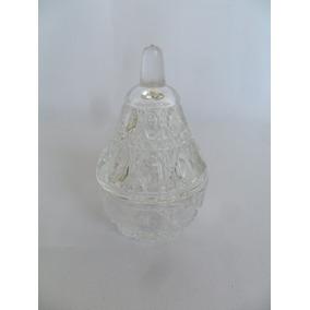 Porta Jóias Cristal Lapidado Em Forma De Pêra Lindo E Antigo