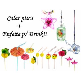 20 Colar Pisca + 12 Enfeite P/ Drink - 15 Anos,casamento