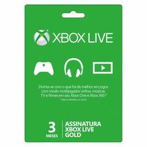 Xbox Live Gold Br 3 Meses 90 Dias Assinatura Cartão Código